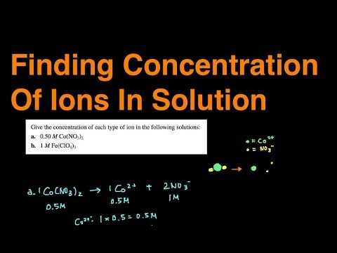 Finding Concentration of Ions in Solution