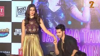 Alia and Varun  posing At Tamma Tamma Again Song Launch | Bolly2Box