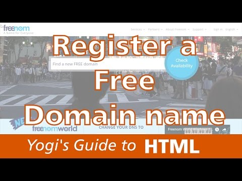 How to Register a Free Domain Name from freenom | Yogi's Guide to Web Development
