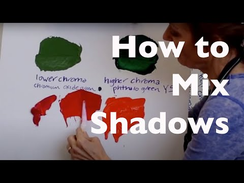 How to Mix Shadows &  How to take a Bright Color and Tone It Down