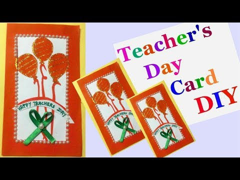 Teachers day cards Making idea for kids | handmade cards for teachers day |Greeting cards-DIY