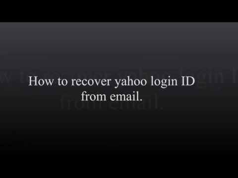 How to Recover Yahoo email Account - Forgot Yahoo Login ID