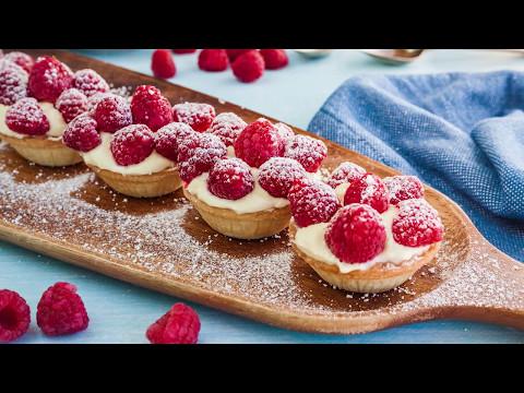 Raspberry and White Chocolate Tartlets Recipe: Goodman Fielder