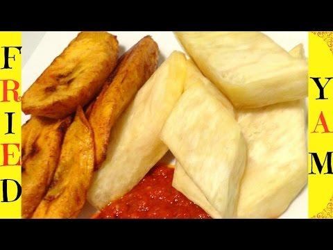 How to Make Fried Yam | Nigerian Fried Yam | Dundun | Nigerian Street Food