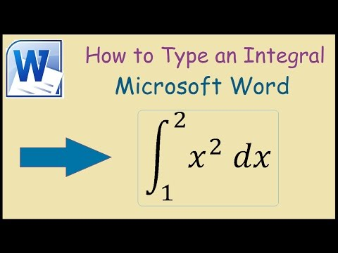 How to write an integral in Microsoft Word 2010