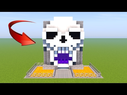 Custom Nether Portal - Minecraft: How to Make Skull Nether Portal - Minecraft Skull Tutorial