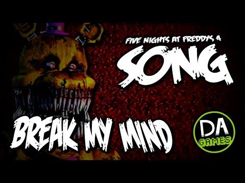 FIVE NIGHTS AT FREDDY'S 4 SONG (BREAK MY MIND) LYRIC VIDEO - DAGames