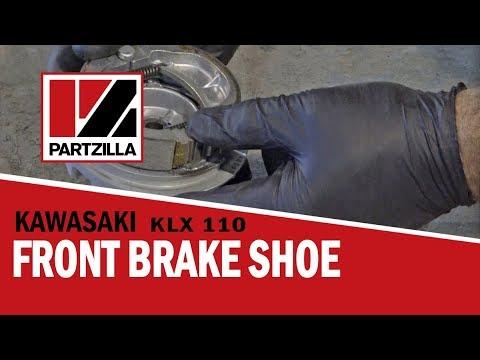 How to Change Front Brake Shoes on a Kawasaki KLX 110 Dirt Bike | Partzilla.com