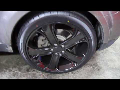 2011 RANGE ROVER SPORT WITH 22 INCH BLACK RIMS & TIRES