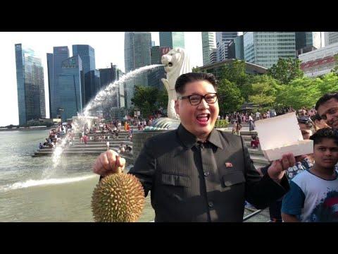 Kim Jong Un impersonator Howard X arrives in Singapore