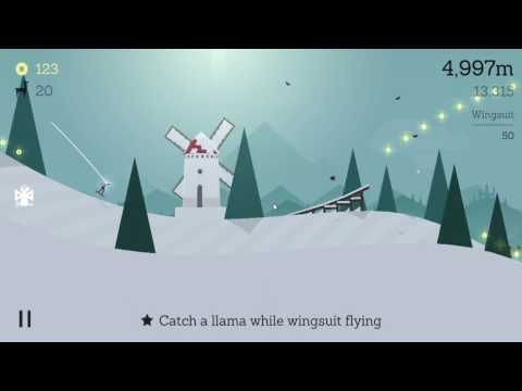 Alto's Adventure - Catch a llama while wingsuit flying