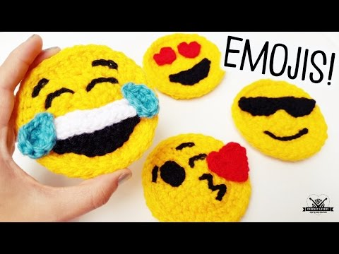 How to crochet EMOJI faces ♥ CROCHET LOVERS