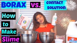 How to Make Slime - Borax vs Contact Solution