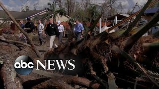 Trump, first lady visit Hurricane Michael storm zone