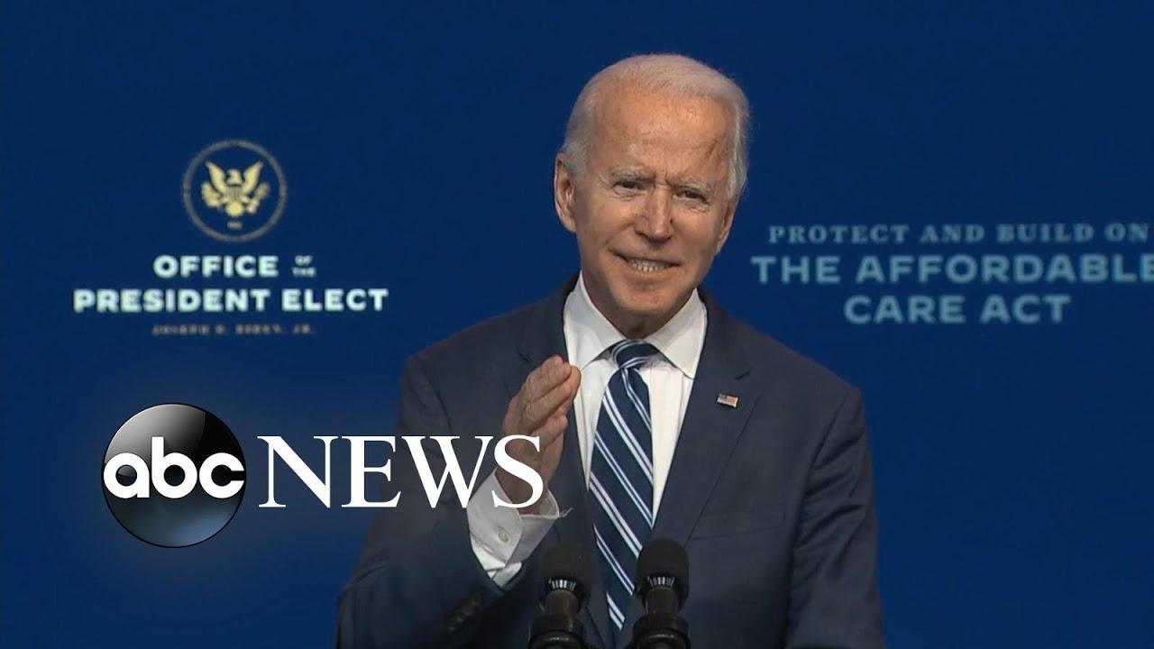 President-elect Joe Biden delivers remarks on Affordable Care Act