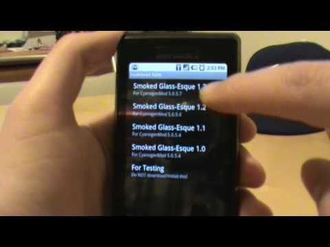 Installing a Custom Theme on Motorola Droid Using ROM Manager
