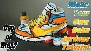 the latest a11c9 be795 Goku Off White Jordan 1  Full Custom Off-White Air Jordan. Custom Shoes
