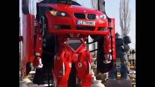 Real life Transformers car changes from sporty BMW into a robot