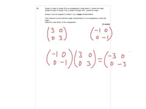 AQA Further Maths GCSE 2016 Paper 2 - Q23 - Matrices & Transformations