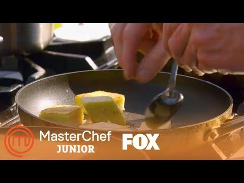 Gordon Ramsay Teaches The Kids How To Start The Branzino Dish | Season 6 Ep. 12 | MASTERCHEF JUNIOR