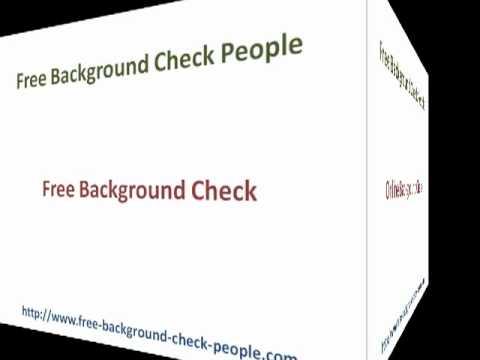 Free Background Checks