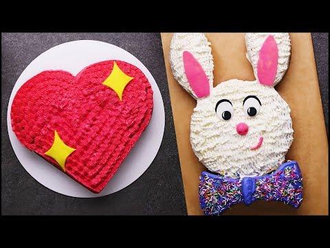 Satisfying Cake Decorating Tutorial   Cake Hacks   Cake Decorating Challenge   DIY Cake Tips