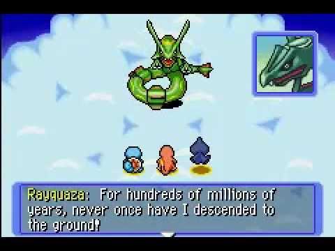 Pokemon Mystery Dungeon -  Red Rescue Team Walkthrough: Boss Battle - Rayquaza!