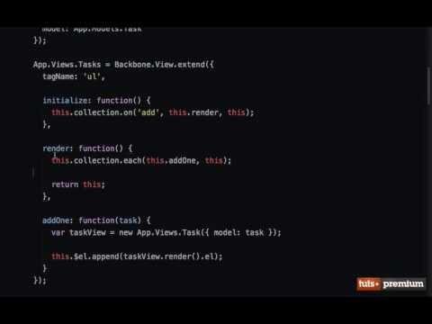 Backbone JS Hands On Tasks Creating New Tasks - 16 tutsplus