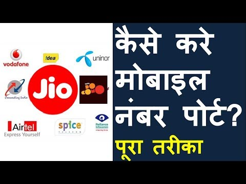 How to Port Your Mobile Number (Hindi)