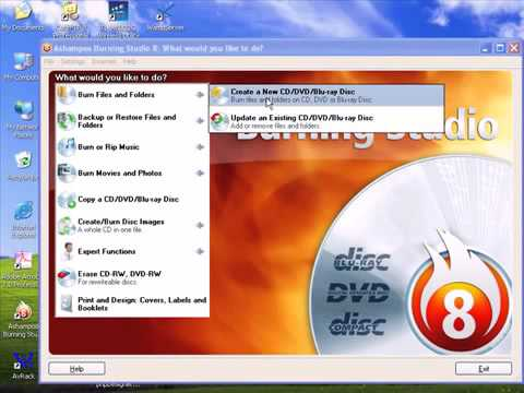 burn dvd using ashampoo fast