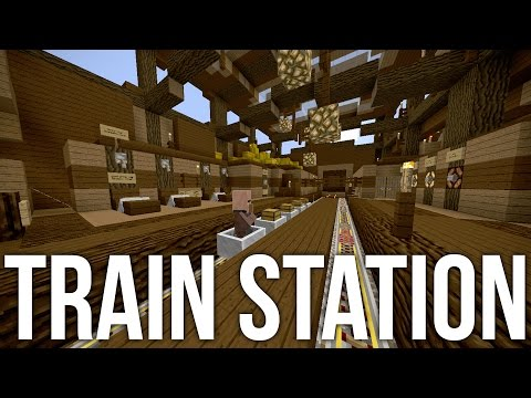 Minecraft Train Station With Minecart Chest - Redstone Tutorial