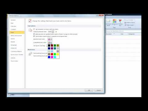 How to change task colour in Outlook 2010