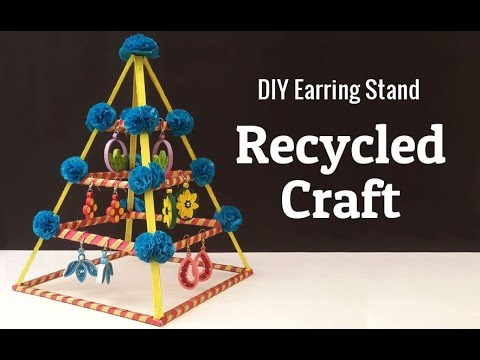 How to Make an Earring Holder From Cardboard | DIY Jewelry organizer