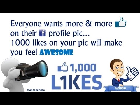 [Hindi] How to Get More likes on FB Profile Pic On Android device Simple way!!!