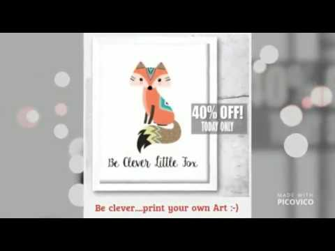 Nursery Prints Video How to decorate your Baby Nursery with  printable Nursery Prints
