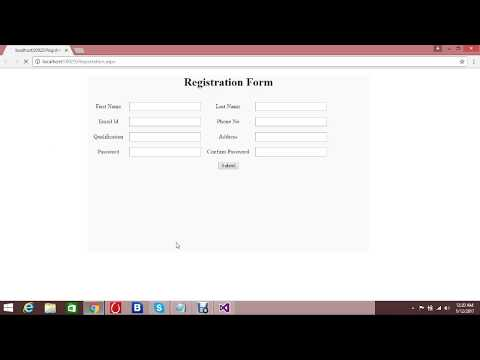 How to create simple registration form in ASP.Net  (PART 1)