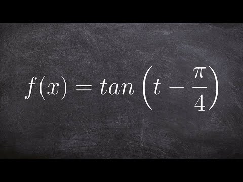 Graphing the Tangent Functions with a Phase Shift