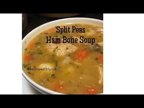Split Peas Ham Bone Soup| Hello Sweet Biscuit