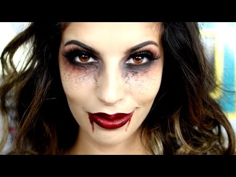 Last Minute Halloween Vampire Makeup Tutorial 2015
