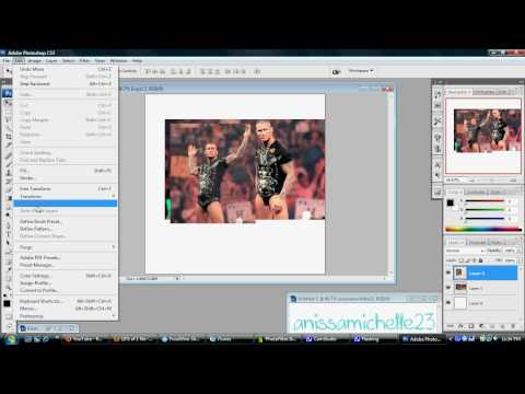 How to Blend Two Pictures Togeather On Photoshop CS3