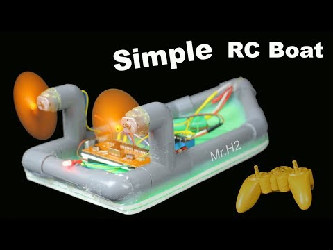 Diy RC Boat - How To Make Simple Remote Control Boat Twin 180 Motor Using PVC Pipe