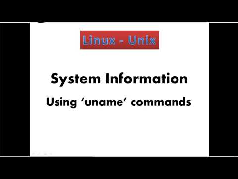 12. Linux - System information using