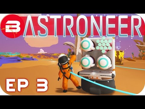 Astroneer Gameplay - SMELTING, STORAGE & PRINTING #3 Let's Play Astroneer