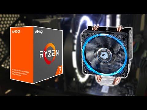 Heatsinks for Ryzen 7 1800x AM4 - Unbox and install ID COOLING SE 214C CIRCULAR LED