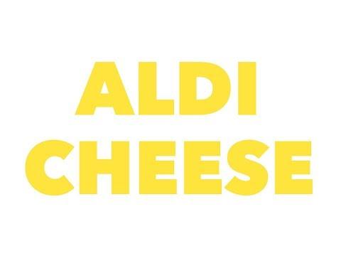 Aldi cheese - cheddar, mozzarella, and ghouda, oh my