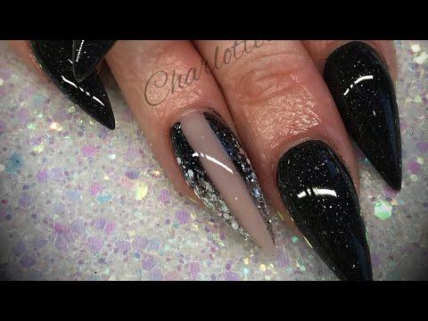 Acrylic nails - black design set