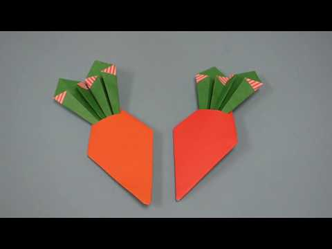R15219 How to make origami carrots