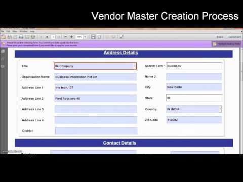 SAP Interactive Forms by Adobe (Vendor Master Creation in Offline Scenario)