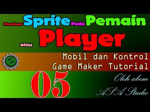 Membuat Sprite Pada Pemain atau Player, Mobil dan Kontrol Bagian 5, Game Maker Tutorial