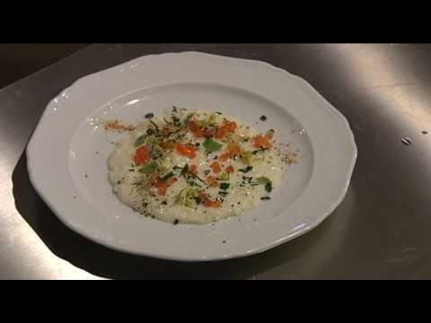 Risotto al Taleggio, con capperi, lime e uova di salmone (Chef Alessandro Dal Degan)